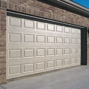 A tan garage door representing the garage door opener repair services of Aldor Sales, Inc. in Jacksonville, FL
