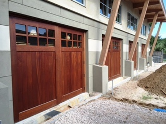 Custom garage doors purchased from Aldor Sales, Inc. in Jacksonville, FL