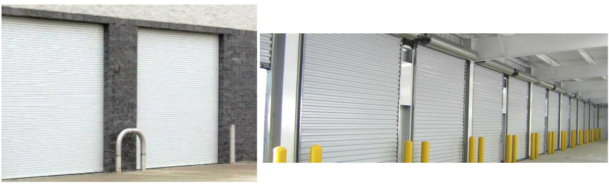 Commercial garage doors that have been installed by Aldor Sales, Inc. in Jacksonville, FL