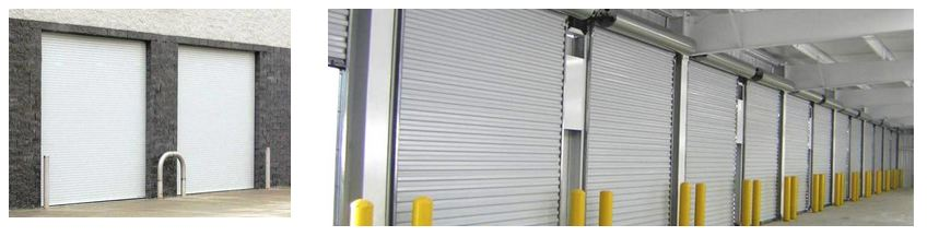 Collection of commercial garage doors installed and designed by commercial garage door repair Aldor Sales, Inc. in Jacksonville, FL