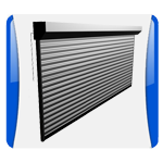 A garage door icon symbolizing the commercial garage door installation services of Aldor Sales, Inc. in Jacksonville, FL