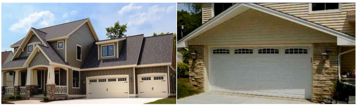 A house with residential garage doors installed by Aldor Sales, Inc. in Jacksonville, FL